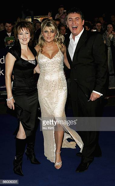 Kacey Ainsworth Christie Goddard and Shane Richie arrives at the National Television Awards 2005 at the Royal Albert Hall on October 25 2005 in...