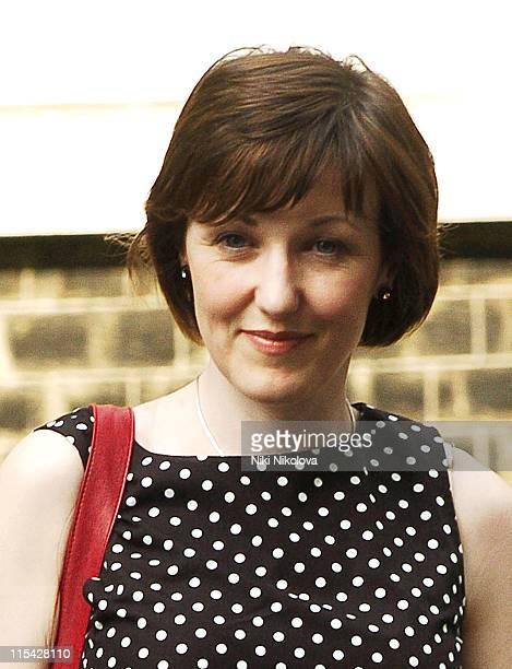 Kacey Ainsworth during First News Launch Reception Outside Arrivals at 11 Downing Street in London Great Britain