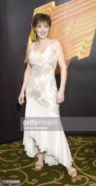 Kacey Ainsworth during Royal Television Society Programme Awards – Inside Arrivals at Grosvenor House Hotel in London Great Britain