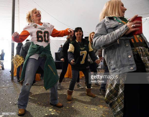 Kacey DiMarco left mother of Colorado State Rams offensive lineman Trae Moxley and Stacey Stevens center mother of Colorado State Rams quarterback...