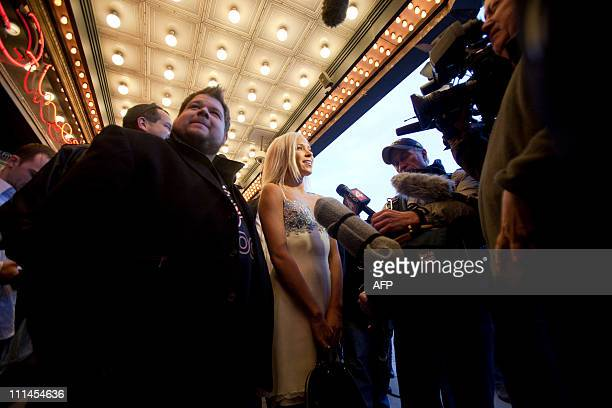 Kacey Jordan , a porn star who partied with Charlie Sheen is mobed by reporters as she arrives at the Fox Theatre in Detroit, Michigan on April 2,...