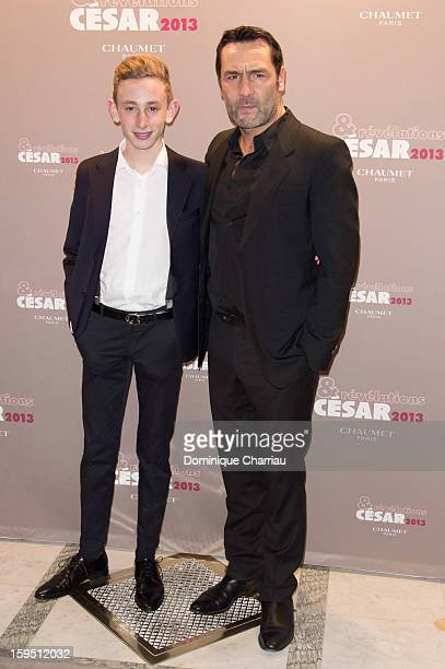 Kacey Mottet Klein and Gilles Lellouche attend the 'Cesar's Revelations 2013' Dinner Arrivals at Le Meurice on January 14 2013 in Paris France