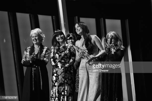 Kacey Musgraves accepts an award onstage during the 53rd annual CMA Awards at the Bridgestone Arena on November 13 2019 in Nashville Tennessee