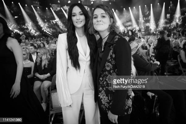 Kacey Musgraves and Brandi Carlile attend the 54th Academy Of Country Music Awards at MGM Grand Garden Arena on April 07 2019 in Las Vegas Nevada