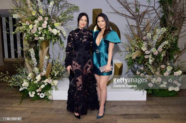 Kacey Musgraves and Olivia Munn attend The Hollywood Reporter and Jimmy Choo Power Stylists Dinner at Avra Beverly Hills Estiatorio on March 12, 2019...