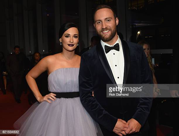 Kasey Musgraves and Ruston Kelly attend the 50th annual CMA Awards at the Bridgestone Arena on November 2 2016 in Nashville Tennessee