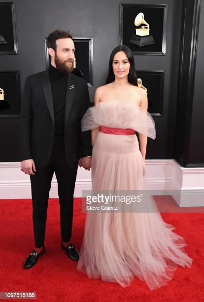 Kacey Musgraves and Ruston Kelly attend the 61st Annual GRAMMY Awards at Staples Center on February 10 2019 in Los Angeles California