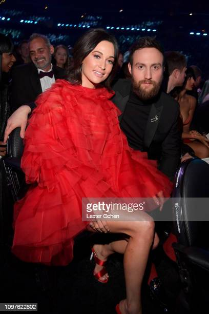 Kacey Musgraves and Ruston Kelly during the 61st Annual GRAMMY Awards at Staples Center on February 10 2019 in Los Angeles California