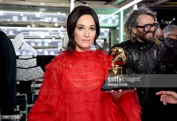 Kacey Musgraves backstage during the 61st Annual GRAMMY Awards at Staples Center on February 10 2019 in Los Angeles California