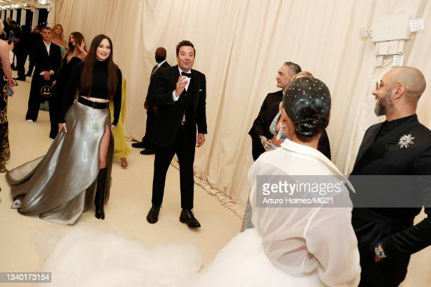 Kacey Musgraves, Jimmy Fallon, Taika Waititi, Alicia Keys, and Swizz Beatz attend The 2021 Met Gala Celebrating In America: A Lexicon Of Fashion at...