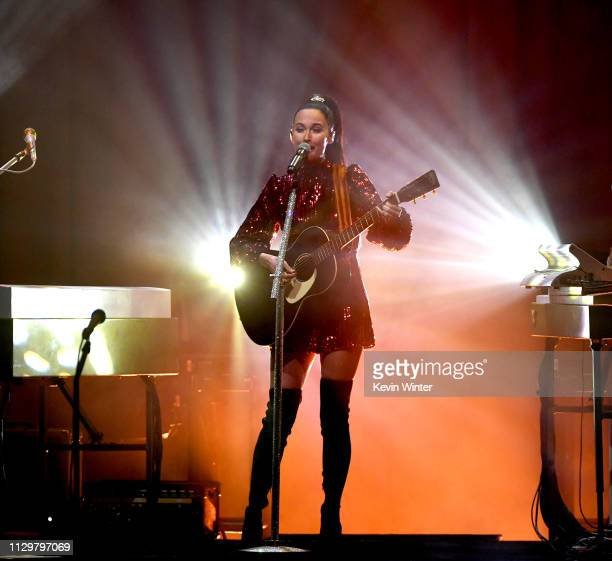 Kacey Musgraves performs at The Theatre at Ace Hotel on February 14 2019 in Los Angeles California