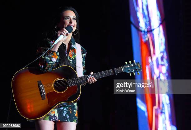 Kacey Musgraves performs onstage during 2018 Stagecoach California's Country Music Festival at the Empire Polo Field on April 28 2018 in Indio...