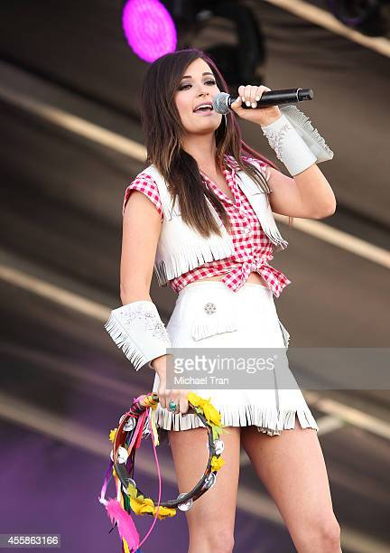 Kacey Musgraves performs onstage during the 2014 iHeart Radio Music Festival Village held at The Lot at MGM Grand Resort and Casino on September 20...