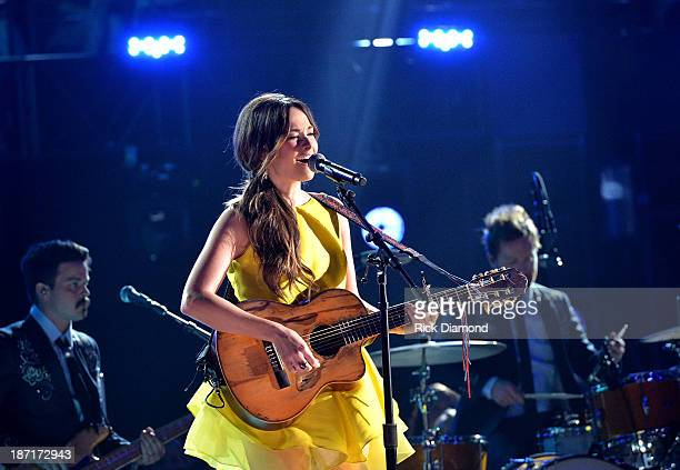 Kacey Musgraves performs onstage during the 47th annual CMA awards at the Bridgestone Arena on November 6 2013 in Nashville United States