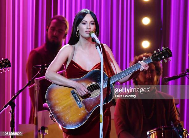 Kacey Musgraves performs onstage during the 52nd annual CMA Awards at the Bridgestone Arena on November 14 2018 in Nashville Tennessee