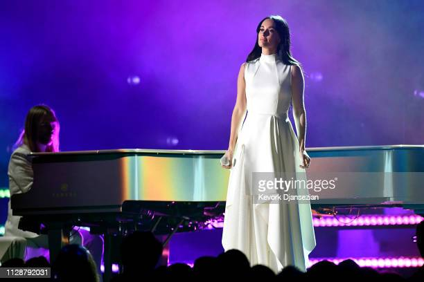 Kacey Musgraves performs onstage during the 61st Annual GRAMMY Awards at Staples Center on February 10 2019 in Los Angeles California