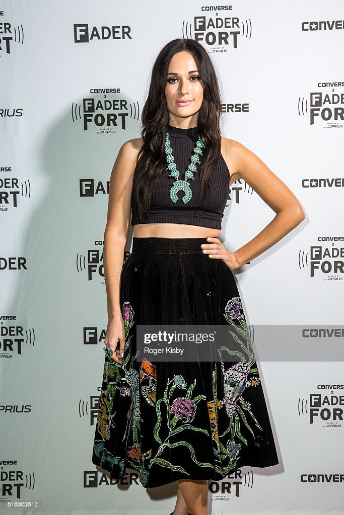 Kacey Musgraves poses for a portrait backstage before her performance at the FADER FORT presented by Converse during SXSW on March 17, 2016 in Austin, Texas.