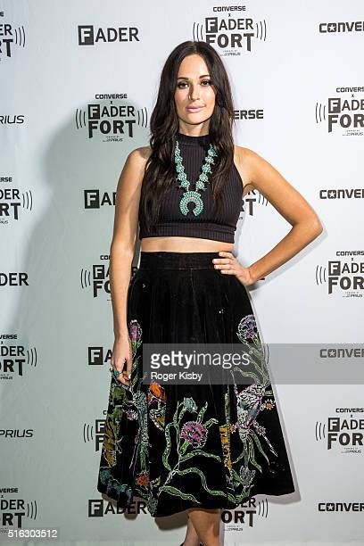 Kacey Musgraves poses for a portrait backstage before her performance at the FADER FORT presented by Converse during SXSW on March 17 2016 in Austin...