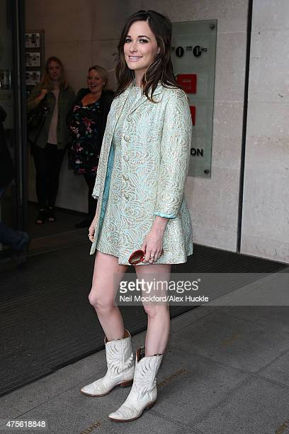 Kasey Musgraves seen at BBC Radio One on June 2 2015 in London England