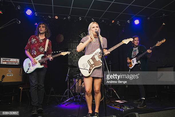 Kacey Underwood, Alice Costelloe, Jessica Batour and Jesse Wong of Big Deal perform on stage at Brudenell Social Club on June 6, 2016 in Leeds,...