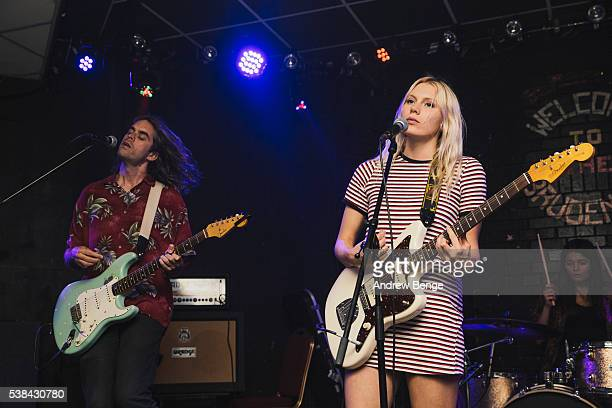 Kacey Underwood and Alice Costelloe of Big Deal perform on stage at Brudenell Social Club on June 6, 2016 in Leeds, England.