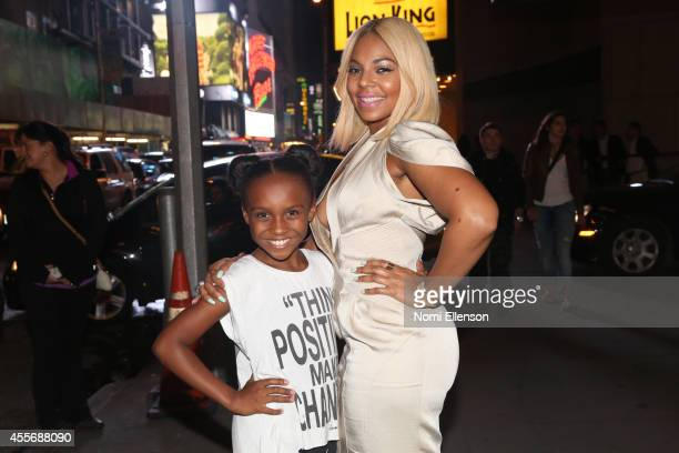 Kaci Walfall and Ashanti attend 'The Lion King' on Broadway on September 18 2014 in New York City