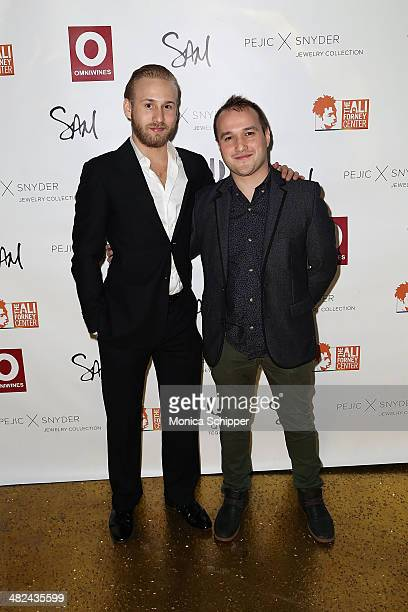 Kacper Grzesiak and Adam Butterfield attend the Pejic x Snyder Jewelry Line Launch Party at Gilded Lily on April 3 2014 in New York City