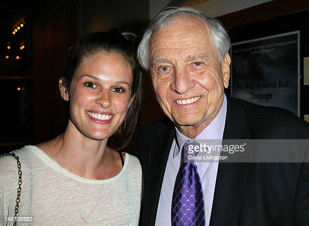 Kacy Byxbee and director Garry Marshall attend the opening night of No Way Around But Through at the Falcon Theatre on June 3 2012 in Burbank...