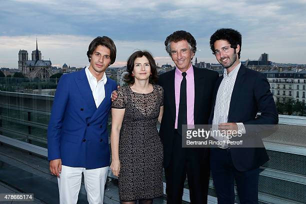 Kacy Grine Caroline Lang Jack Lang and Alexandre Trink attend the Dinner for Honored Designer Driess Van Notten Officier des Arts et Lettres by Jack...