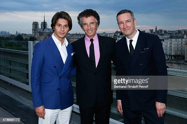 Kacy Grine Jack Lang and Alexandre Trink attend the Dinner for Honored Designer Driess Van Notten Officier des Arts et Lettres by Jack Lang at...