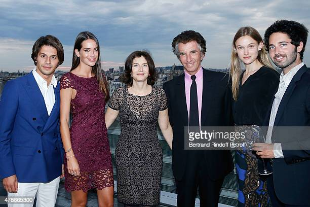 Kacy Grine Krystel Marini Caroline Lang Jack Lang guest and Alexandre Trink attend the Dinner for Honored Designer Driess Van Notten Officier des...