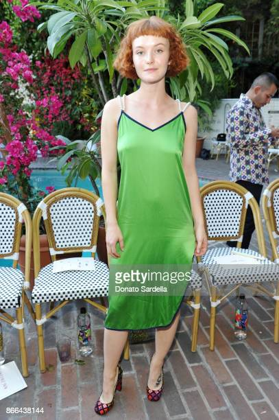 Kacy Hill attends CFDA/Vogue Fashion Fund Show and Tea at Chateau Marmont at Chateau Marmont on October 25 2017 in Los Angeles California