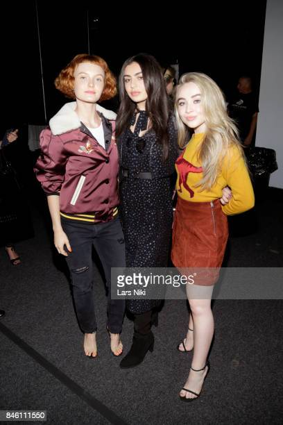 Kacy Hill Charli XCX and Sabrina Carpenter attends Coach Spring 2019 fashion show during New York Fashion Week at Basketball City Pier 36 South...