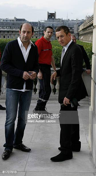 Kad Merad and Dany Boon attend the launching of the 24eme Fete du Cinema at Ministere de al Culture on June 26 2008 in Paris France