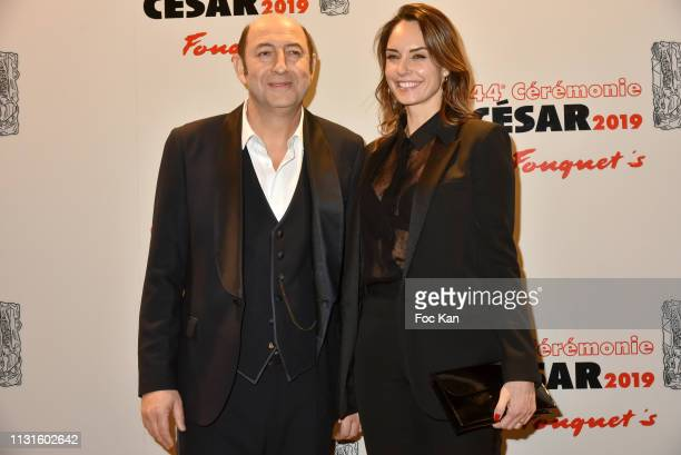 Kad Merad and Julia Vignali attend Red Carpet Arrivals Cesar Film Awards 2019 At Le Fouquet's on February 22 2019 in Paris France
