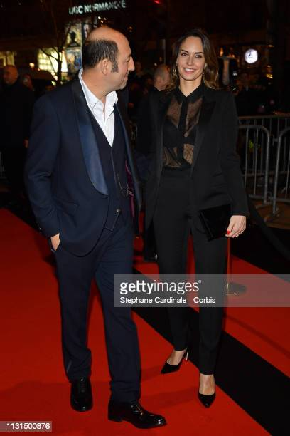Kad Merad and Julia Vignali attend the Cesar Film Awards Dinner at Le Fouquet's on February 22 2019 in Paris France