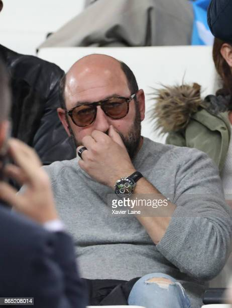 Kad Merad attends the Ligue 1 match between Olympique Marseille and Paris Saint Germain at Orange Velodrome on October 22 2017 in Marseille