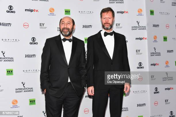 Kad Merad nominated for best performance by an actor in Baron Noir attends the 45th International Emmy Awards at New York Hilton on November 20 2017...