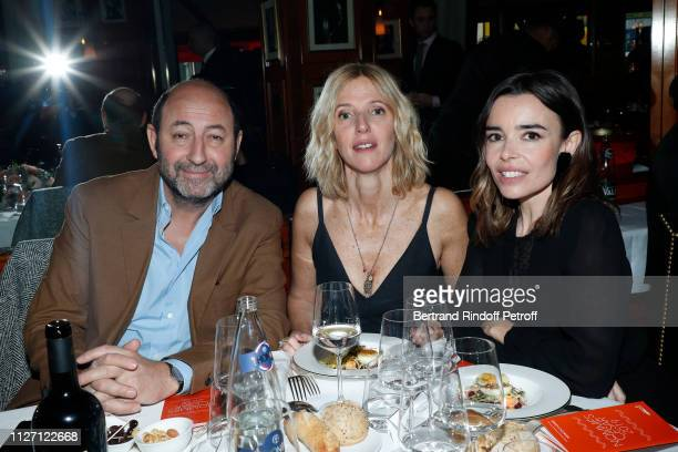 Kad Merad Sandrine Kiberian and Elodie Bouchez attend the Cesar 2019 Nominee Luncheon at Le Fouquet's on February 03 2019 in Paris France