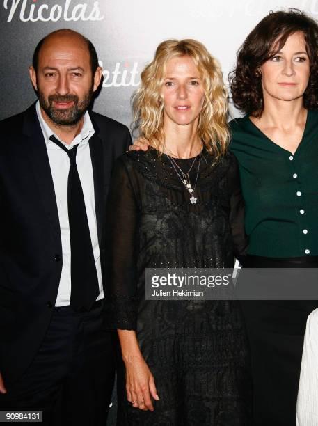 Kad Merad Sandrine Kiberlain and Valerie Lemercier attend 'Le Petit Nicolas' Paris premiere at Le Grand Rex on September 20 2009 in Paris France