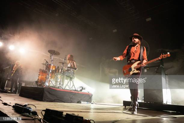 September 18: Kadavar perform live on stage during day 2 of Pure & Crafted Festival in Berlin on September 18, 2021 in Berlin, Germany.