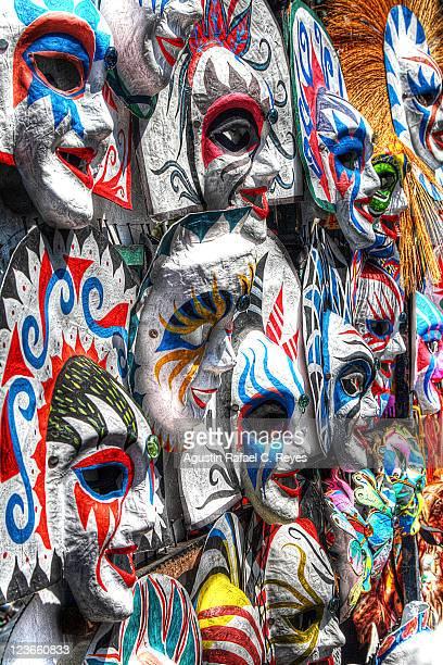 kadayawan masks - davao city stock-fotos und bilder