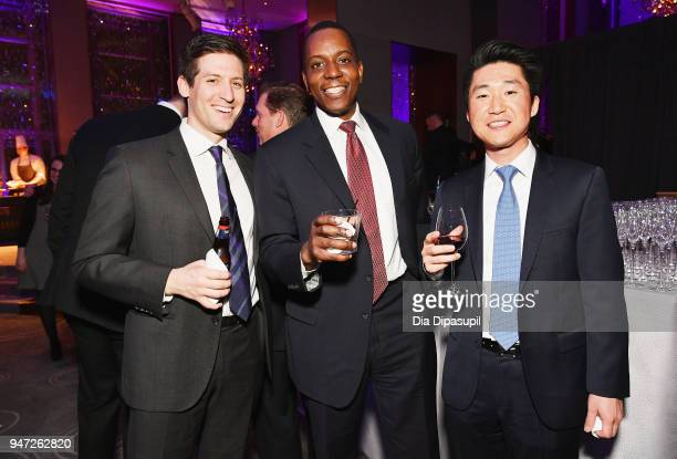 Kaddu Luyombya and guests attend the Lincoln Center Alternative Investment Industry Gala on April 16 2018 at The Rainbow Room in New York City