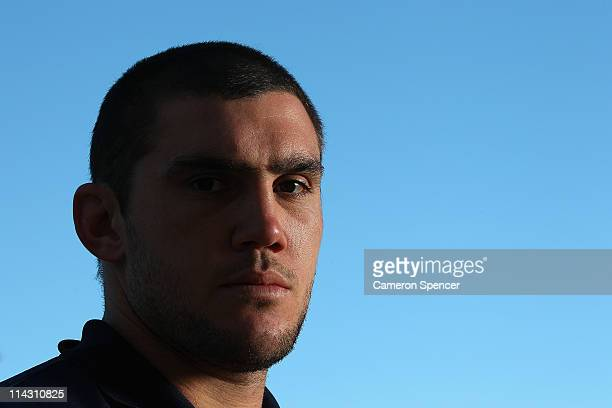 Kade Snowden of the Blues poses for a portait during a New South Wales Blues State of Origin media session at Crown Plaza Coogee on May 18 2011 in...