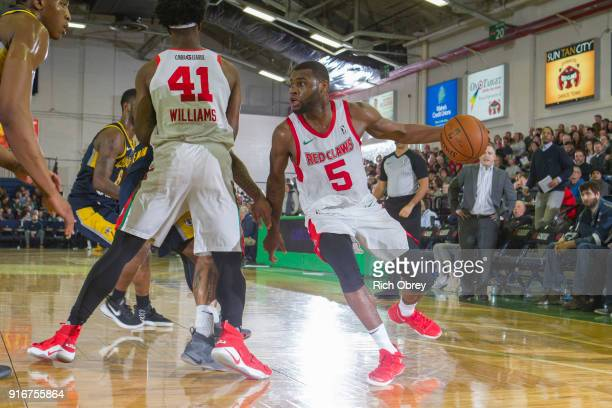 Kadeem Allen of the Maine Red Claws handles the ball against the Fort Wayne Mad Ants during the NBA GLeague on February 10 2018 at the Portland Expo...