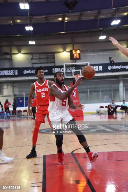 Kadeem Allen of the Maine Red Claws passes the ball during the NBA GLeague Showcase Game 25 between the Memphis Hustle and the Maine Red Claws on...