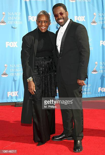 Kadeem Hardison and guest during 38th Annual NAACP Image Awards Arrivals at Shrine Auditorium in Los Angeles California United States