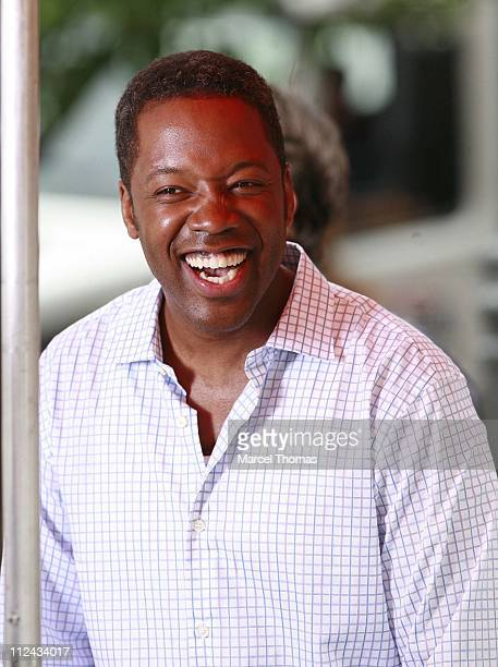 Kadeem Hardison during Patrick Dempsey and Kadeem Hardison On Location Filming Made of Honor June 10 2007 at On Location in New York United States