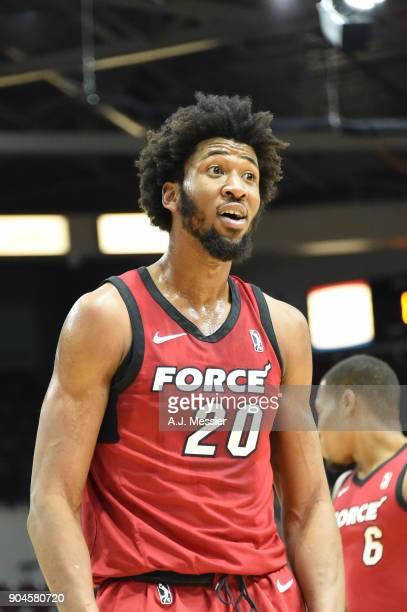 Kadeem Jack of Sioux Falls Skyforce reacts during the NBA GLeague Showcas Game 22 between the Sioux Falls Skyforce and the Raptors 905 on January 13...