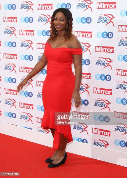 Kadeena Cox attends the Pride of Sport awards at Grosvenor House on November 22 2017 in London England